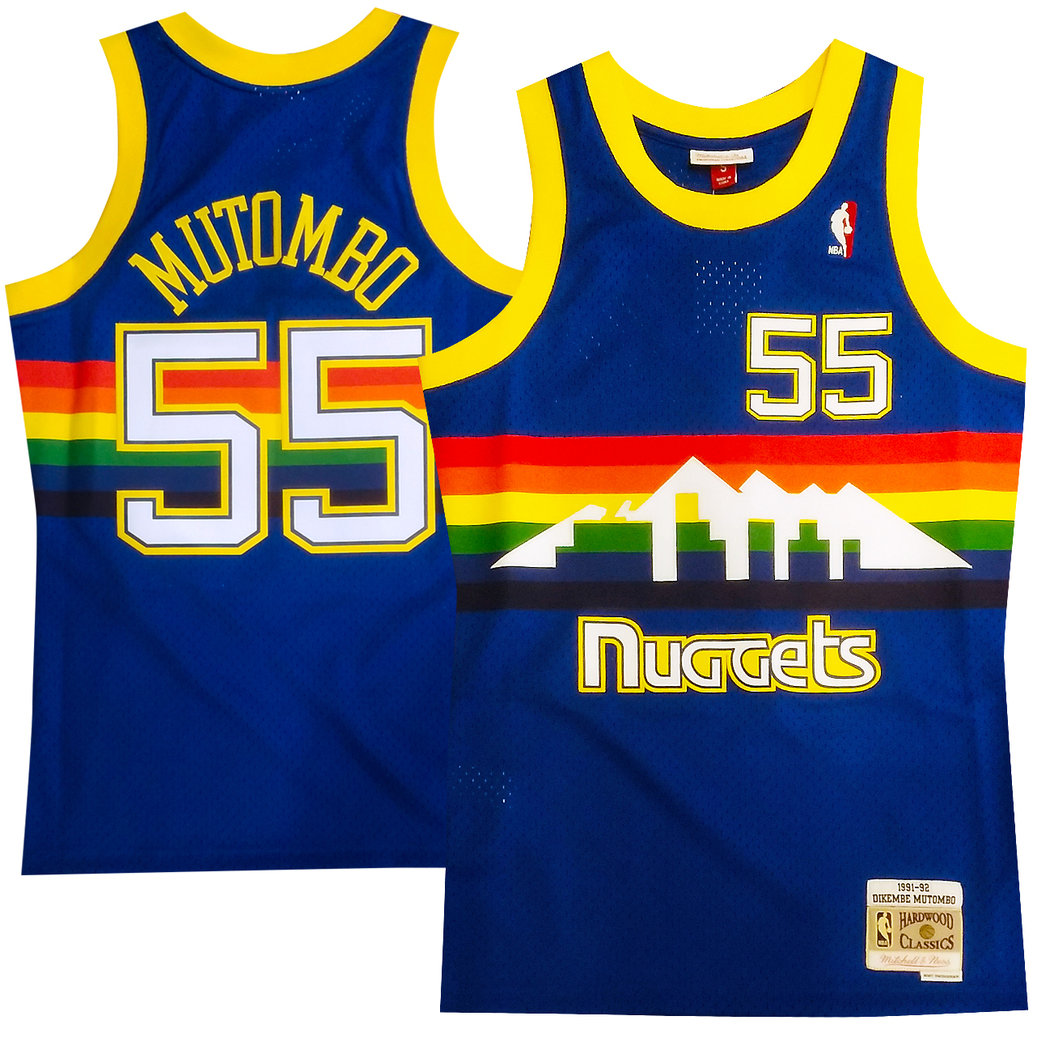 new product 39a2f a9f6c Denver Nuggets Dikembe Mutombo Swingman Jersey