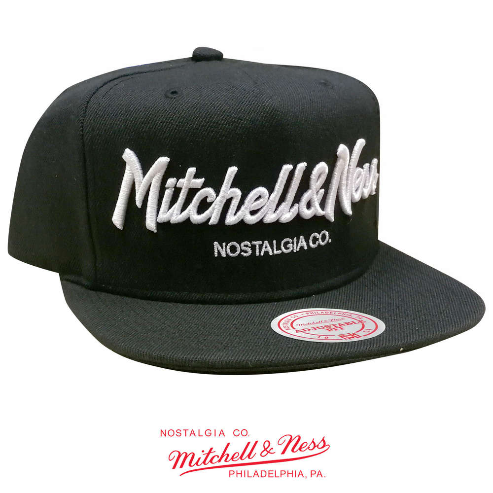 buy popular 093a1 68886 Pinscript Snapback Cap, Mitchell & Ness