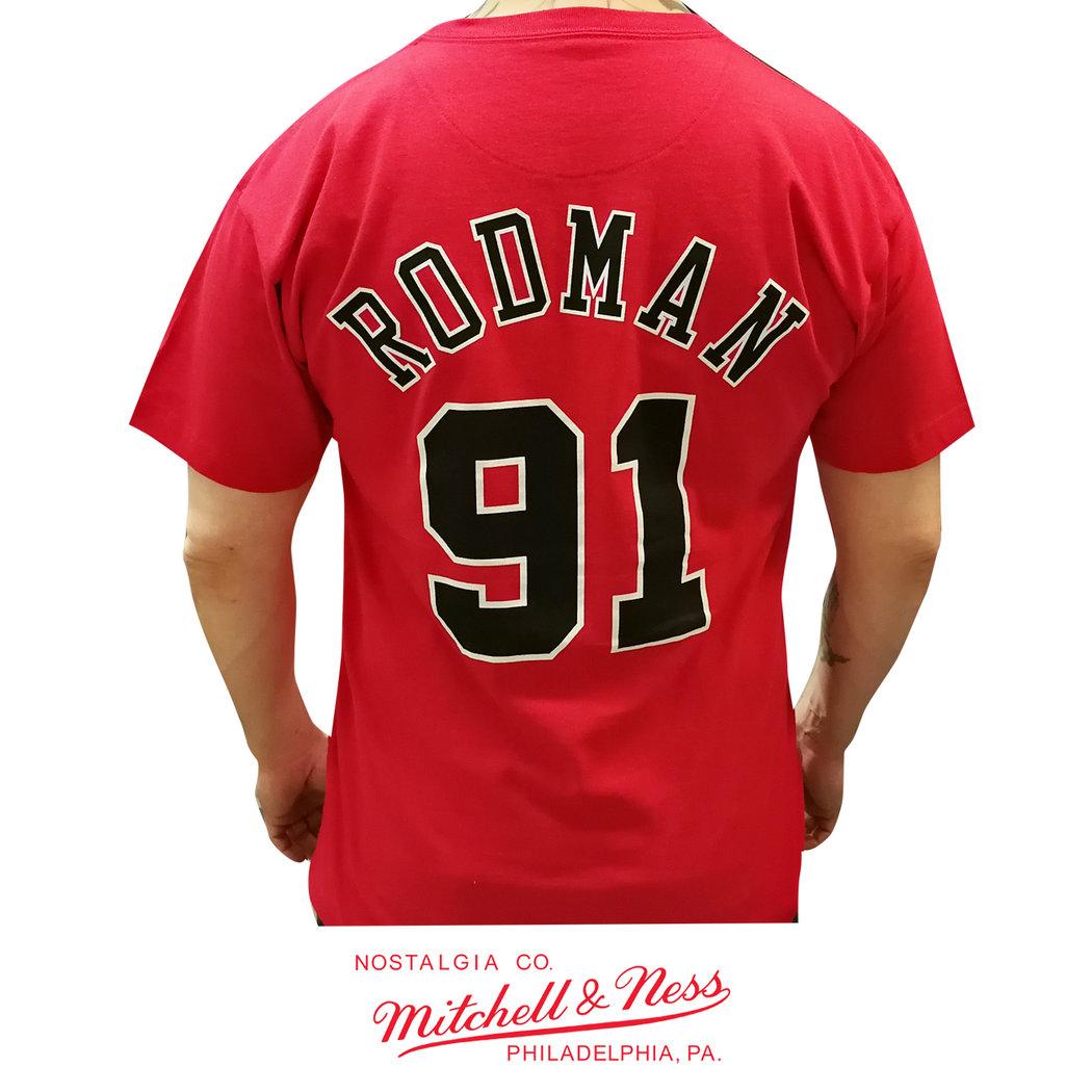 huge selection of 9938b 67810 Chicago Bulls Dennis Rodman t-shirt, Mitchell & Ness