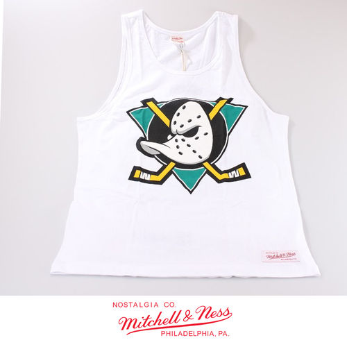 Anaheim Ducks Team Logo Tank, Mitchell & Ness