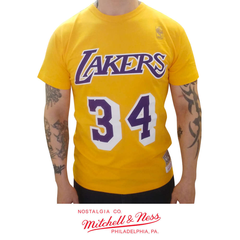 online store 7ea51 d554a Los Angeles Lakers Shaquille O'Neal t-shirt, Mitchell & Ness