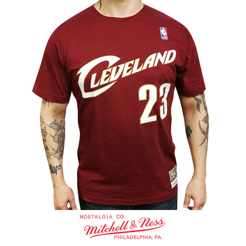 Cleveland Cavaliers LeBron James t-shirt, Mitchell & Ness