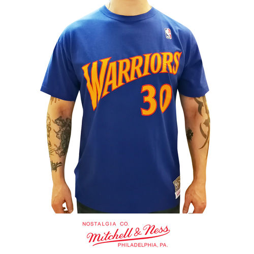 Golden State Warriors Stephen Curry t-paita, Mitchell & Ness