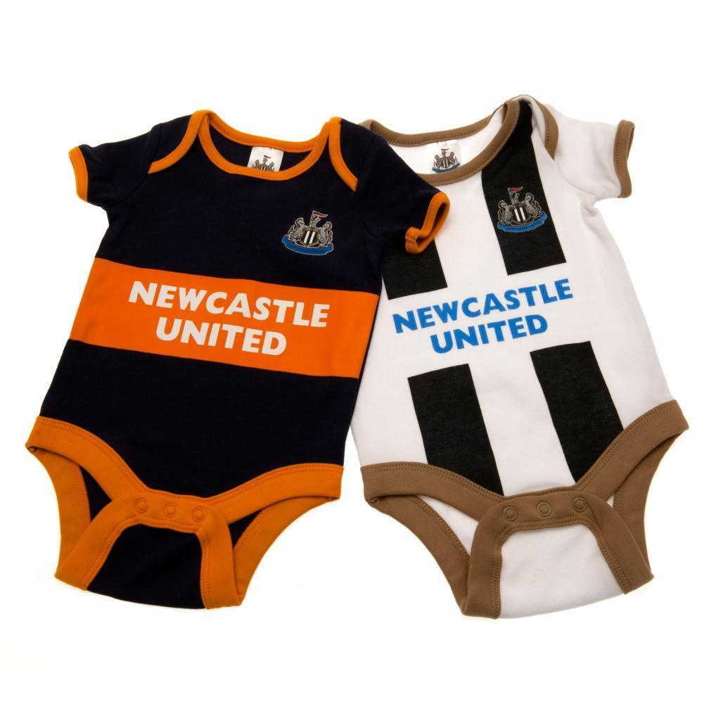 Newcastle United F.C. 2 Pack Bodysuit 6/9 mths GD
