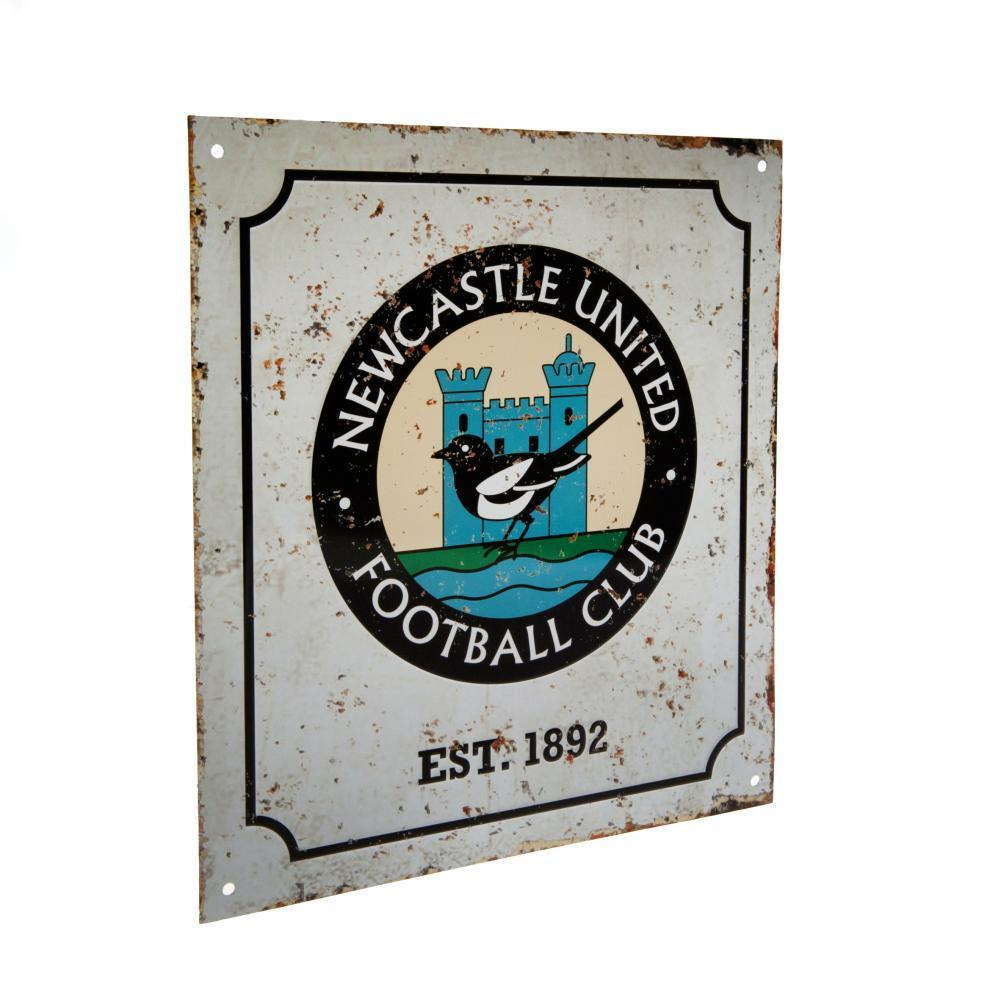 Newcastle United F.C. Retro Logo Sign