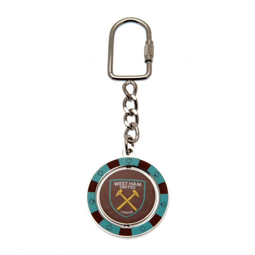 West Ham United F.C. Spinner Keyring PC