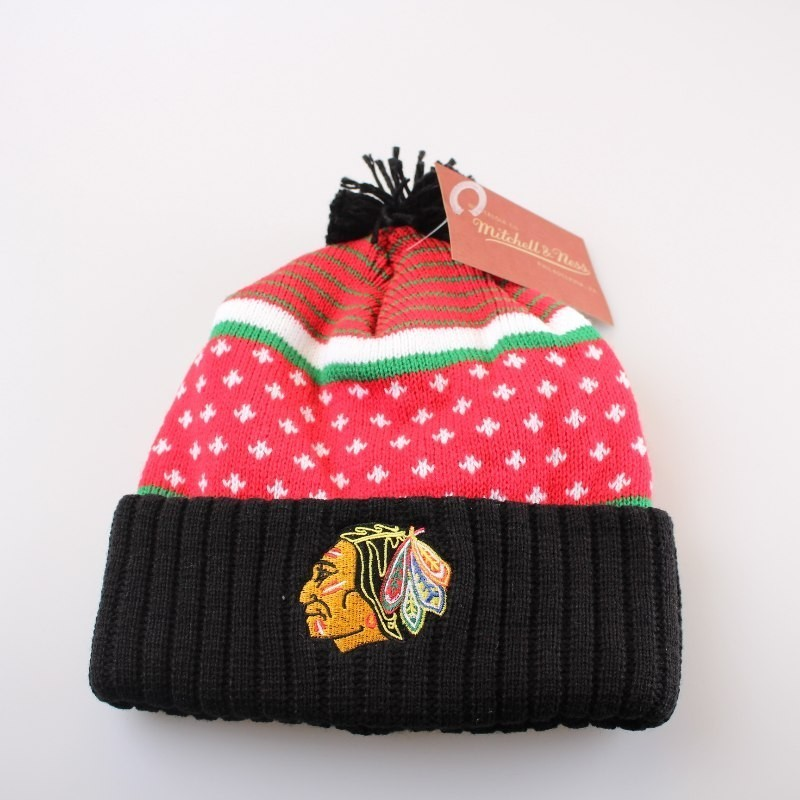 Chicago Blackhawks Bobble Beanie KW05Z