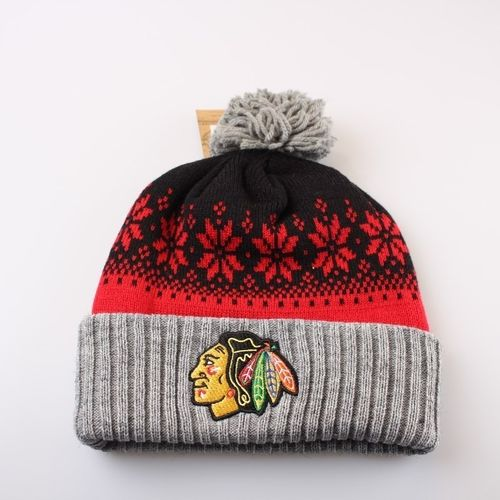 Chicago Blackhawks Bobble Beanie KV54Z