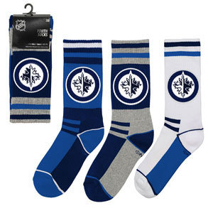 Winnipeg Jets Strumpor, 3-pack