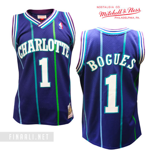 Charlotte Hornets Muggsy Bogues Swingman Jersey