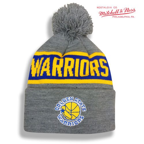 Golden State Warriors Bobble Beanie, Mitchell & Ness