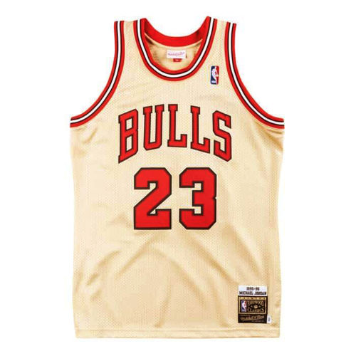 Chicago Bulls Michael Jordan 1995-96 Gold Jersey