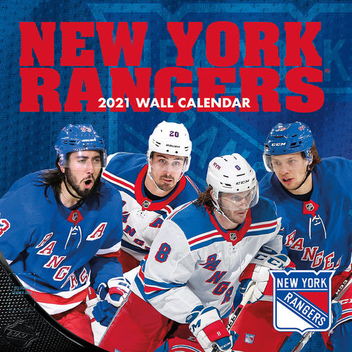New York Rangers Wall Calendar 2021