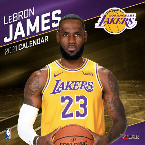 L.A. Lakers LeBron James Wall Calendar 2021